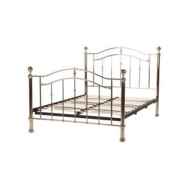 Lyra 4ft6 Double Chrome Metal Bed