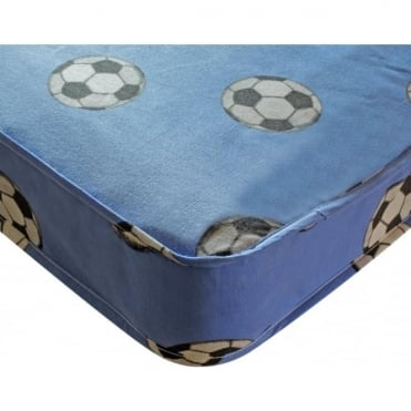 3ft Single Sprung Football Mattress Blue