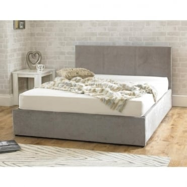 Stirling Ottoman 5ft King Size Stone Fabric Bed