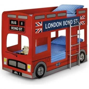 LON001 London Bus 3ft Single Bunk Bed