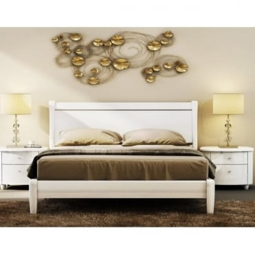AZTB5WHTV2 Aztec 5ft King Size White Bed