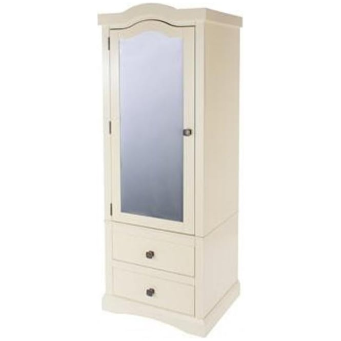 Core Products Ltd Quebec 1 Mirrored Door 2 Drawer Wardrobe QB395