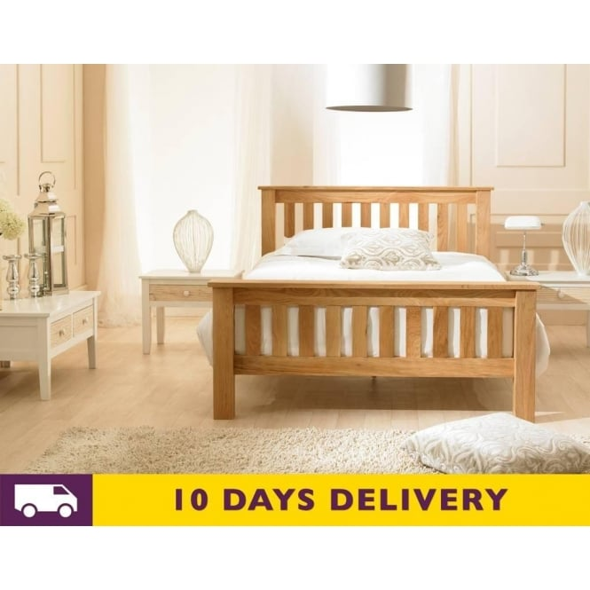 Cheapest Richmond 6ft Super King Size Solid Oak Wooden Bed
