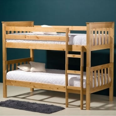Seattle Pine 3ft Wooden Bunk Bed