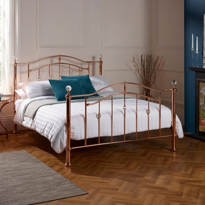 Serene ASHL600RGBED Ashley 6ft Super King Rose Gold Bed