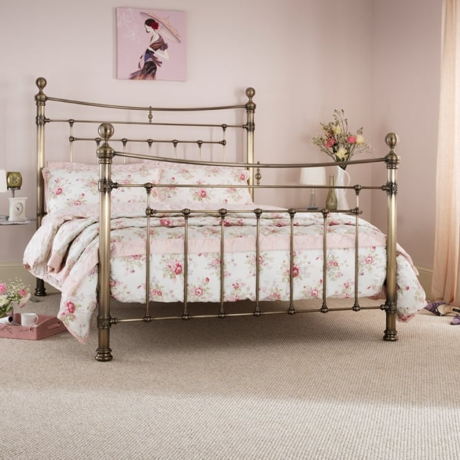 Serene EDMO600ABBED Edmond 6ft Super King Antique Brass Metal Bed