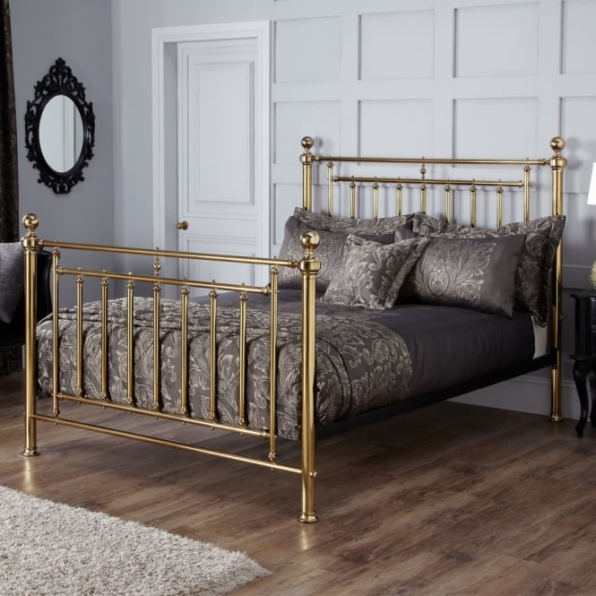 Serene SOLO600BSBED Solomon 6ft Super King Brass Metal Bed