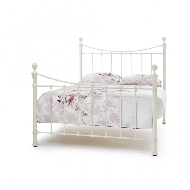 Serene Super King Ivory Gloss Ethan 6ft Bed ETHA600IVBED