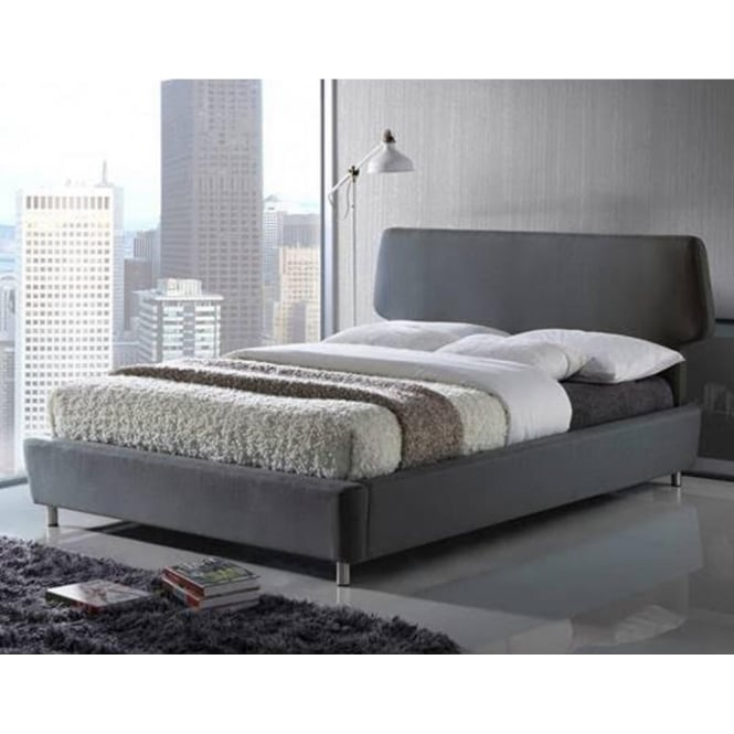 Time Living Exclusive Sienna 4ft6 Double Grey Fabric Bed