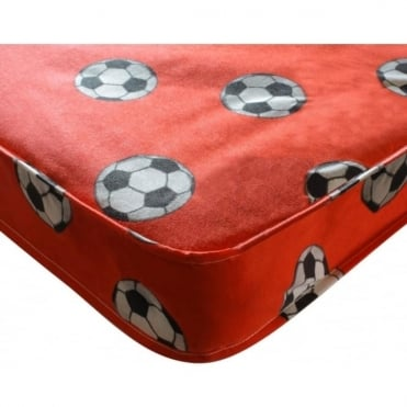 Single Football Mattress Red