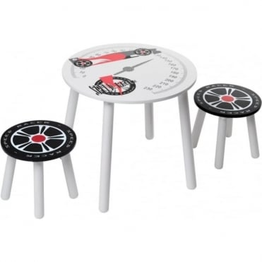 Speed Racer Table & 2 Stools SRTC