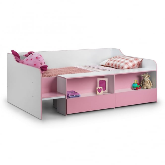 Julian Bowen Stella 3ft Low Sleeper Pink Bed