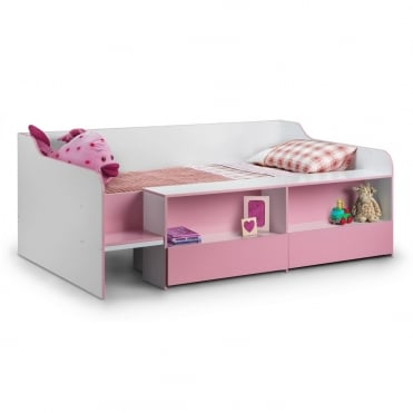 Stella 3ft Low Sleeper Pink Bed