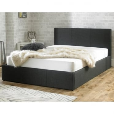 Stirling Ottoman 4ft Small Double Charcoal Fabric Bed