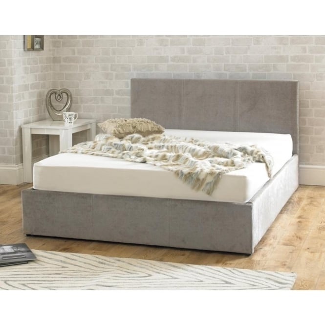 Emporia Stirling Ottoman 5ft King Size Stone Fabric Bed