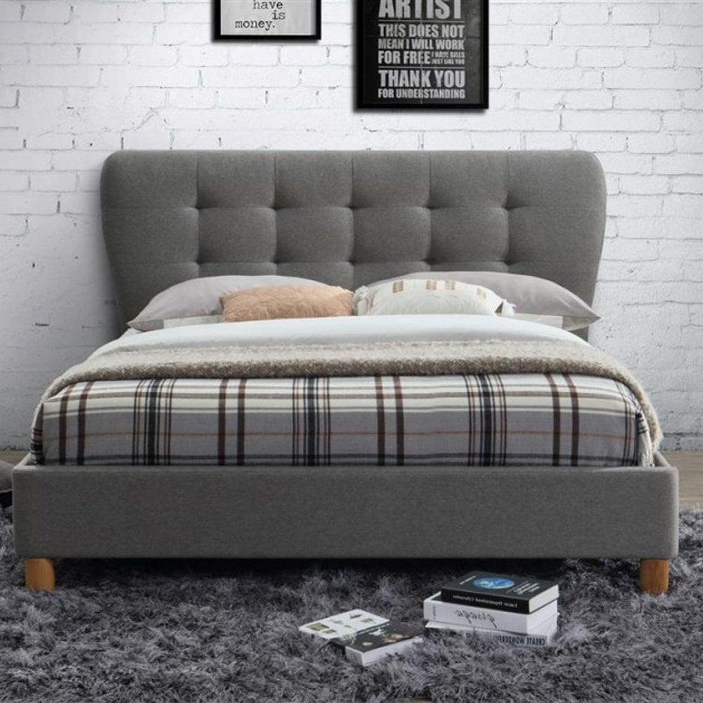 STOB4GRY Stockholm 4ft Small Double Grey Bed