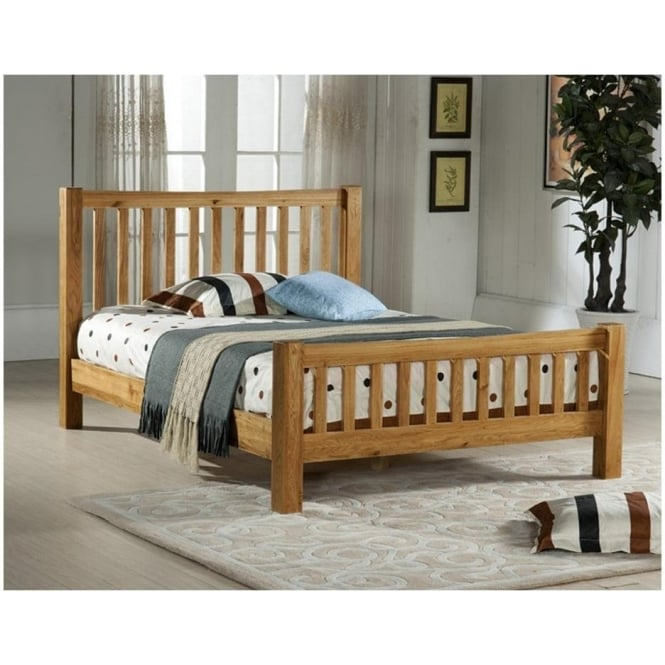 Time Living DEN6 Denver Oak 6ft Super King Size Wooden Bed