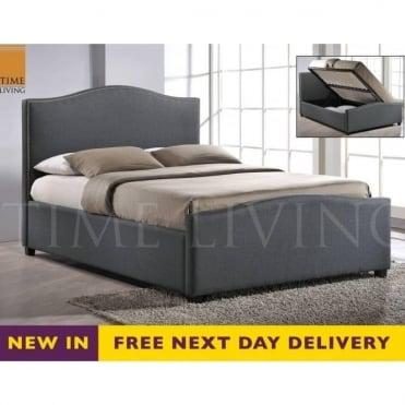 BRU5GREY Brunswick Grey 5ft King Size Storage Bed