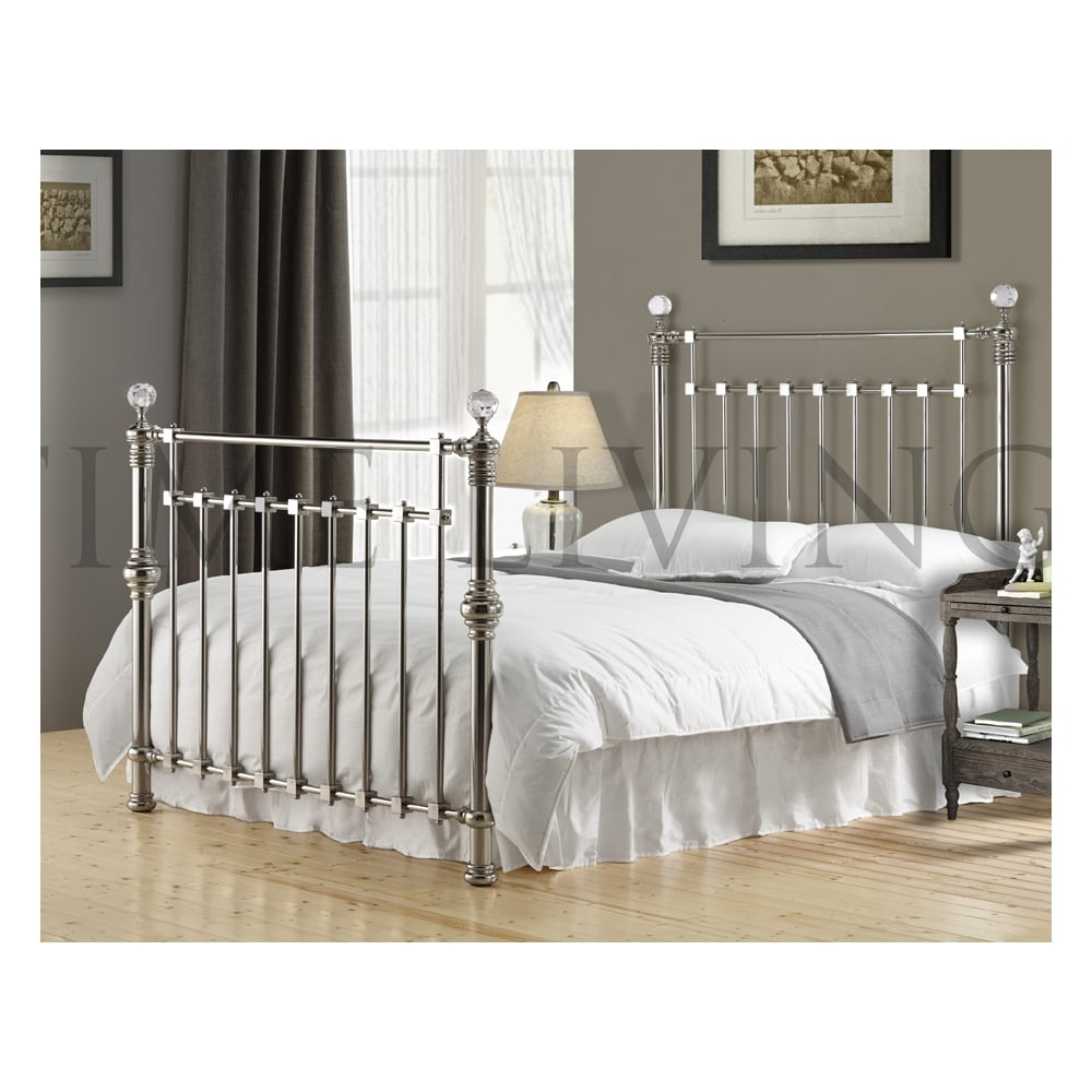 time living exclusive edward crystal 6ft super king size chrome