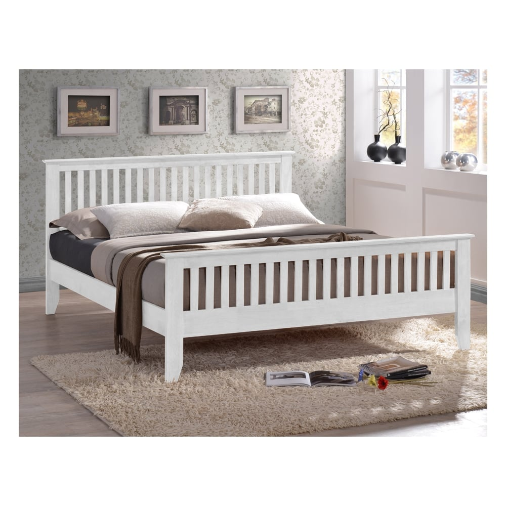 Delicieux Turin 3ft Single White Solid Wooden Bed