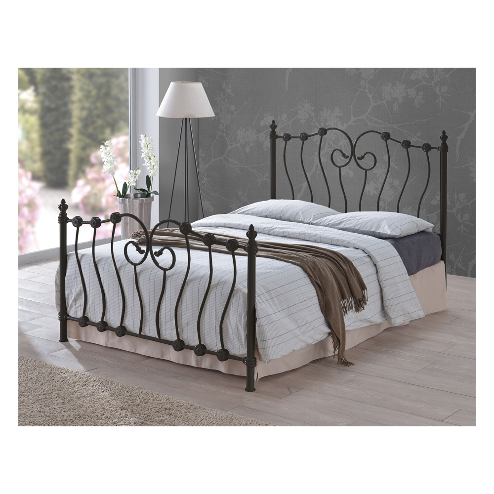 Time Living Ino4blk Inova 4ft Small Double Black Metal Bed Bedsos
