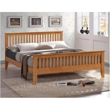Turin 3ft Honey Oak Single Wooden Bed TUR3