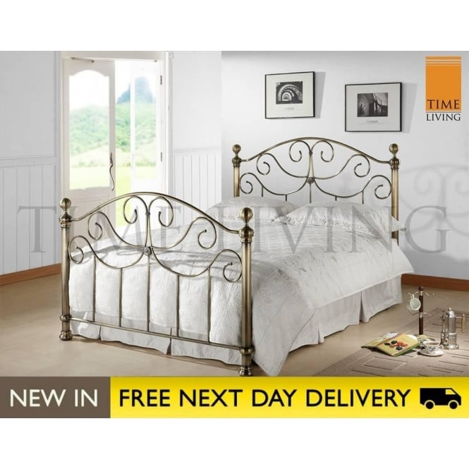 Time Living Exclusive Victoria 4ft6 Brass Double Bed VIC46BRA