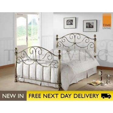 Victoria 4ft6 Brass Double Bed VIC46BRA