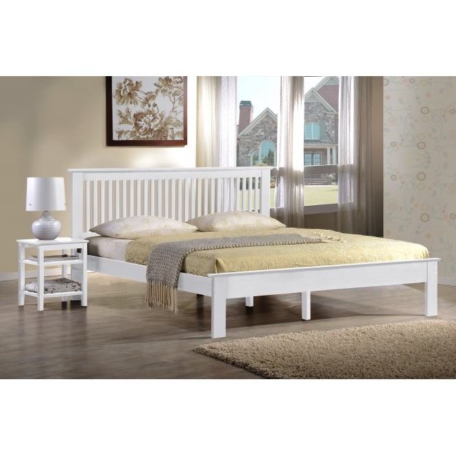Harmony Windsor 3ft Single White Wooden Bed