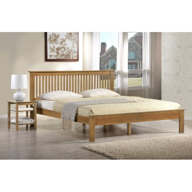 Harmony Windsor 4ft Small Double Oak Wooden Bed
